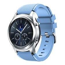 Samsung Gear S3 Smart Watch Band Silicone Mesh Bracelet Sports Strap Light Blue