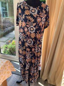Principles floral short sleeve midi dress sz 18