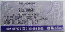 Rolling Stones Bill Wyman Original Genuine Used Concert Ticket Reading 1999