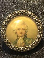 """Antique Vintage Painted Portrait England Button """"""""RARE"""""""""""