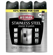 Weiman Stainless Steel Cleaner and Polish, 17oz - 3 Pack