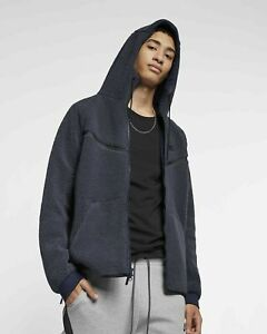 Nike Tech Fleece Sherpa Hooded Jacket Navy AQ2767-451 Men's NWT