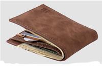 Men Wallets Mens Wallet with Coin Bag Zipper Small Money Purses New Design