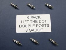 6 Pack LIFT THE DOT DOUBLE POST 8 GAUGE UTE TONNEAU TARP FITTING/CLIP (TNSAC21)