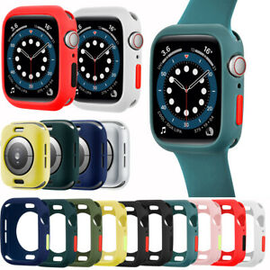 2PC For iWatch Series 6 5 4 3 Silicone Guard Case Bumper Cover Shell Accessories