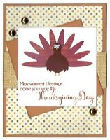 Turkey THANKSGIVING DAY Greeting Card - Handmade A2 size