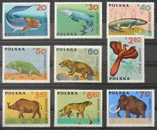 - Polen Poland 1966 Mi. Nr. 1655-1663 ** postfrisch MNH prähistorische Tiere