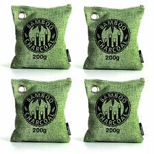 Air Purifying Bag Bamboo Charcoal Bag Air Freshener Odor Deodorizer 4 x 200g