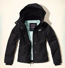 NWT HOLLISTER by Abercrombie Women's ALL-WEATHER Fleece Lined JACKET (Black)  XL