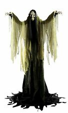 Halloween Haunted Life Size Animated Yard Prop Witch Towering 7' Tall Eyes Light