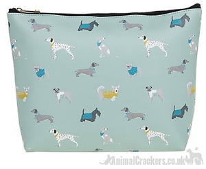 Dogs design zipped Cosmetic or Toilet Bag Dachshund Frenchie Pug Dog lover gift