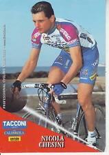 CYCLISME carte cycliste NICOLA CHESINI équipe TACCONI SPORT- VINI CALDIROLA