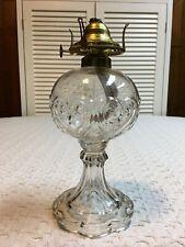 A Real Show Stopper Eapg Central Glass Co. Hearts and Stars oil kerosene lamp