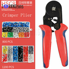 Ratcheting Ferrule Crimper Plier HSC8 6-4A 0.25-10mm² AWG23-7 Wire Tool ATF