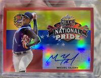 2020 Leaf Metal Draft Miguel Yajure National Pride Rainbow Red 5/5 Auto Rookie