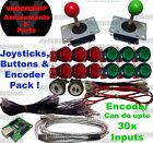 2xJOYSTICKS & 14x BUTTONS & Xin-mo USB Encoder - Pack Arcade - Mame - Multicade