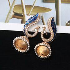 Women Gril Retro Indian Peacock Jhumka Jhumki Drop Earrings Gypsy Jewelry