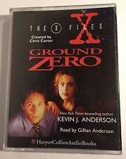 THE X FILES GROUND ZERO. Cassette Audio Book. Read by Gillian Anderson