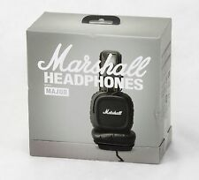 Marshall Major Pitch Black Microphone & Remote On-Ear Pro Stereo Headphone