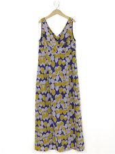 Boden Damen blau SEIDE Print Maxi Kleid Größe 14