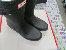 Hunter Women's Original Short Rain Boots Waterproof Matte/BLACK SIZE 8