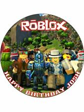 "Roblox Personalised 7.5"" Wafer Paper Birthday Cake Topper! D2"