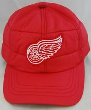 NHL Hockey American Needle Detroit Red Wings Outdoorsman Red Cap Quilted With...