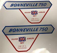 TRIUMPH T140V Bonneville Silver Jubilee restauración calcomanías de Insignia de panel lateral 2