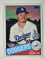 2020 🚨 Gavin Lux RC! Topps Chrome Silver 1985 #85C-48 Rookie Los Angeles Dodger