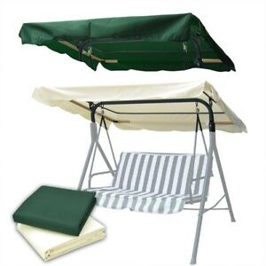 """76""""x44"""" Outdoor Patio Swing Canopy Top Replacement Cover Garden UV30+ 180gsm"""