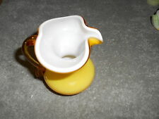 Hand Blown Yellow Pitcher With White Inside