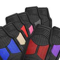 Universal Car Truck SUV All Weather Color Accent Floor Mats - 8 Colors