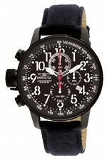 Invicta Men's Watch I-Force Chronograph Lefty Black Dial Black Fabric Strap 1517