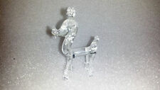 Vintage Art Glass Poodle Dog Animal Sculpture Statue Figurine