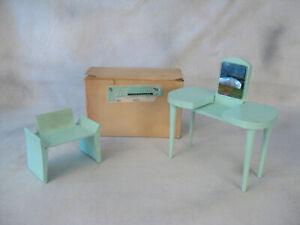 """Vogue Doll Ginny Jill / Jan Aqua Vanity Chair vintage 1956 boxed  10"""" fashion"""