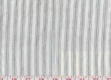 Linen Ralph Lauren Upholstery Fabric R$232y Crane Ridge Ticking Stripe CL Blue