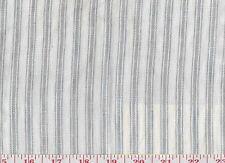Linen Ralph Lauren Upholstery Fabric R$232y Crane Ridge Ticking Stripe CL Blue