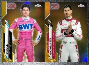 2020 TOPPS CHROME FORMULA ONE LANCE STROLL ANTONIO GIOVINAZZI 70th GOLD LOT