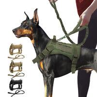 K9 Taktisches Hundegeschirr mit Leine Militär Zuggeschirr Brustgeschirr PITBULL