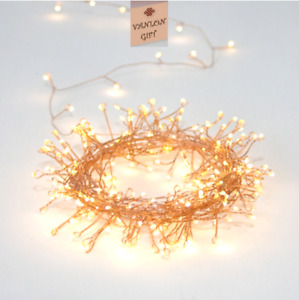 LED Cluster Micro Wire Chain UK Plug Waterproof IP44 20% OFF NOW
