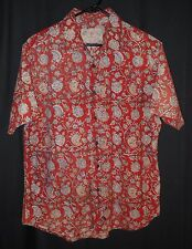 Ralph Lauren Shirt Batik Polo Jeans Flower Print Casual Beach Pool Party Medium