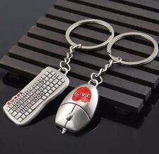 Mouse And Keyboard Model Keychain Outdoor Key Ring Pendant Keyring Game Lovers