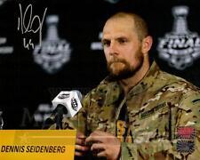 Dennis Seidenberg Boston Bruins Signed Hero of the Game Army Jacket 8x10