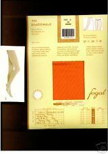 Fogal Strumpfhose, Diagonal Streifen, orange   40-42