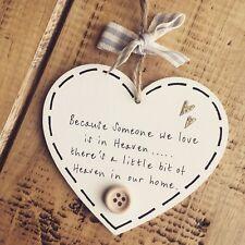Heaven memory love home plaque sign gift memorial bereavement family friend loss