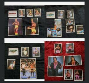 MERLIN WWF 1992 - bundle lot set of stickers; Hulk Hogan, Undertaker, etc.
