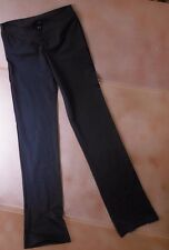 NWT Bloch Dance black Jazz pants vfront microfiber Small adult ladies P6918