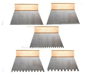 """Tiling Adhesive Glue Spreader 7"""" Comb 180mm Square Notched, Teeth, Serrated DIY"""
