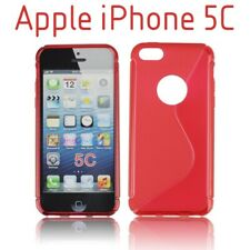TPU gel silicone case cover S-line red for Apple iPhone 5C