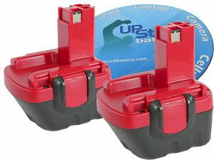 2x 12V Battery for Bosch 3360K 32612 3455-01 BAT043 BAT045  BAT046 BAT049 BAT120